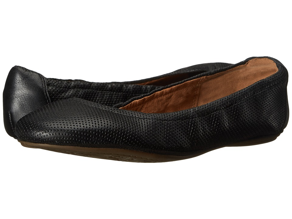 Clarks - Grayson Erica (Black Perfed Leather) Women's Slip on Shoes