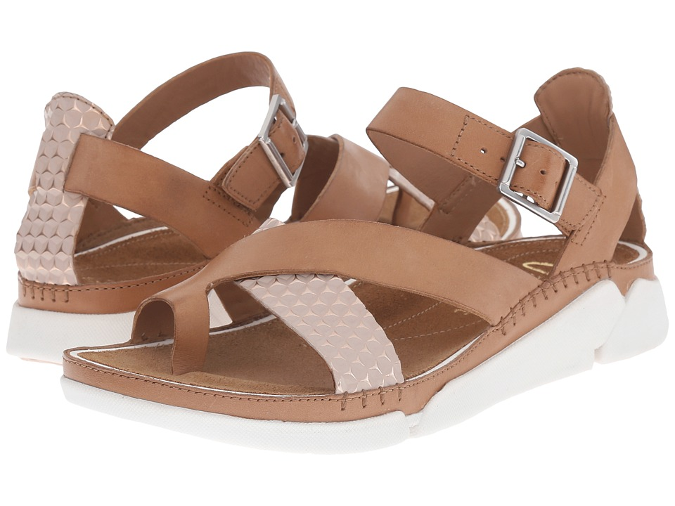Clarks - Tri Ariana (Tan Combi) Women's Sandals
