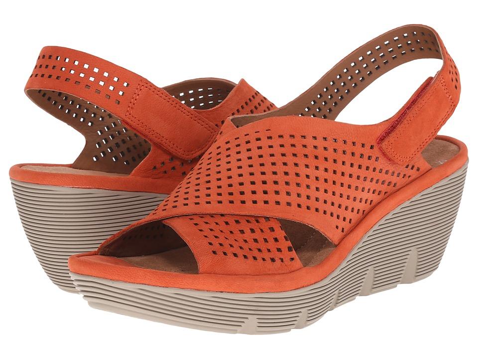 Clarks - Clarene Award (Grenadine Nubuck) Women's Wedge Shoes