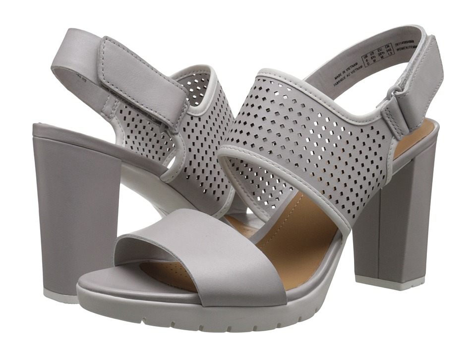 Clarks - Pastina Malory (Light Grey Leather) High Heels