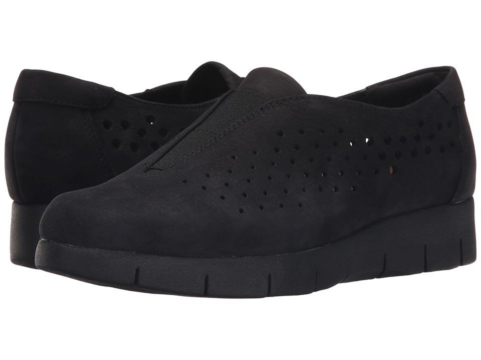 Clarks - Daelyn Summit (Black Nubuck) Women's Wedge Shoes