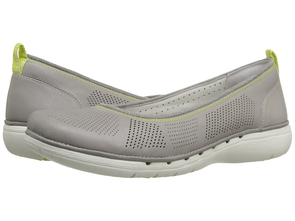 Clarks - Un Elita (Grey Leather) Women's Wedge Shoes