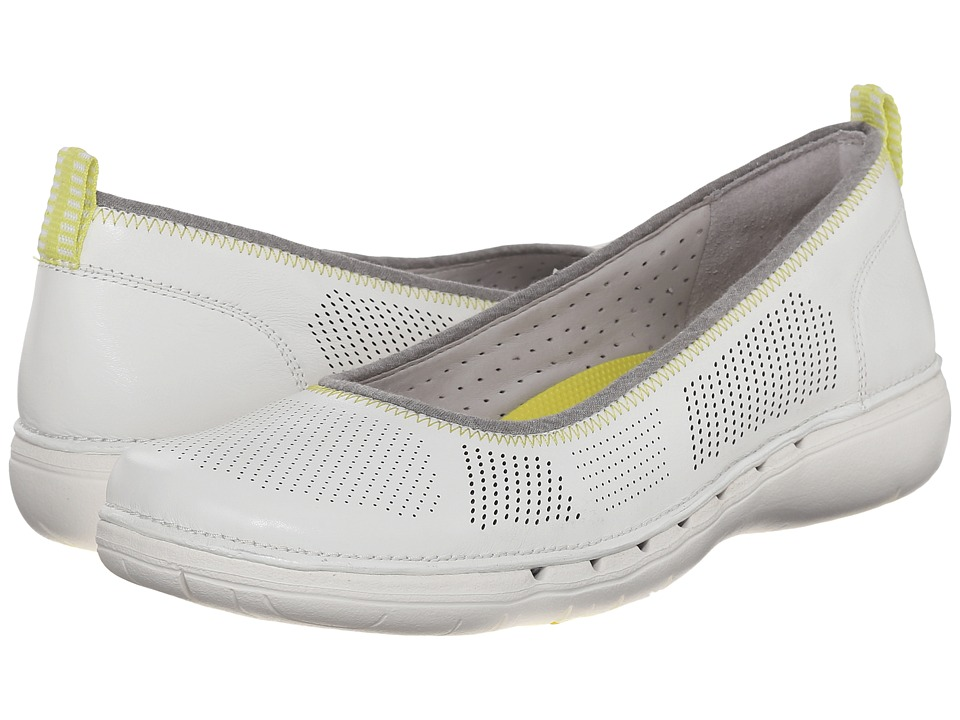 Clarks - Un Elita (White Leather) Women's Wedge Shoes