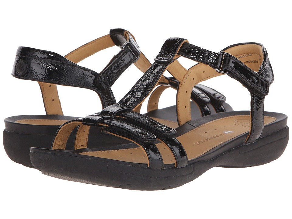 Clarks - Un Vaze (Black Patent Leather) Women's Sandals