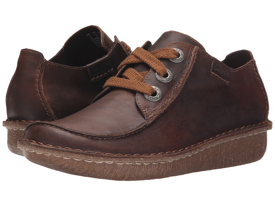 Clarks - Funny Dream (Brown Leather) Women's Lace up casual Shoes