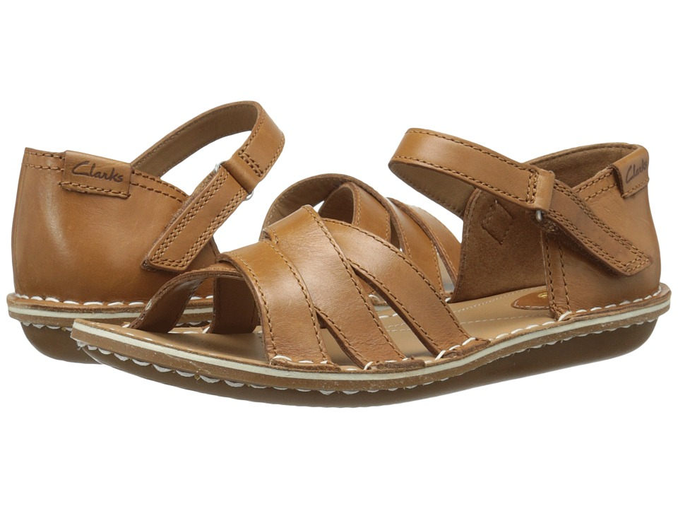 Clarks - Tustin Sahara (Tan Leather) Women's Sandals