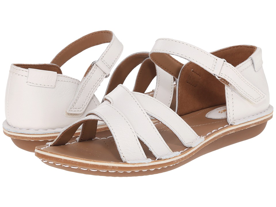 Clarks - Tustin Sahara (Off-White Leather) Women's Sandals