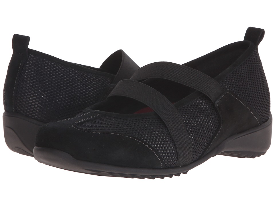 Munro - Zip (Black Combo) Women's Maryjane Shoes