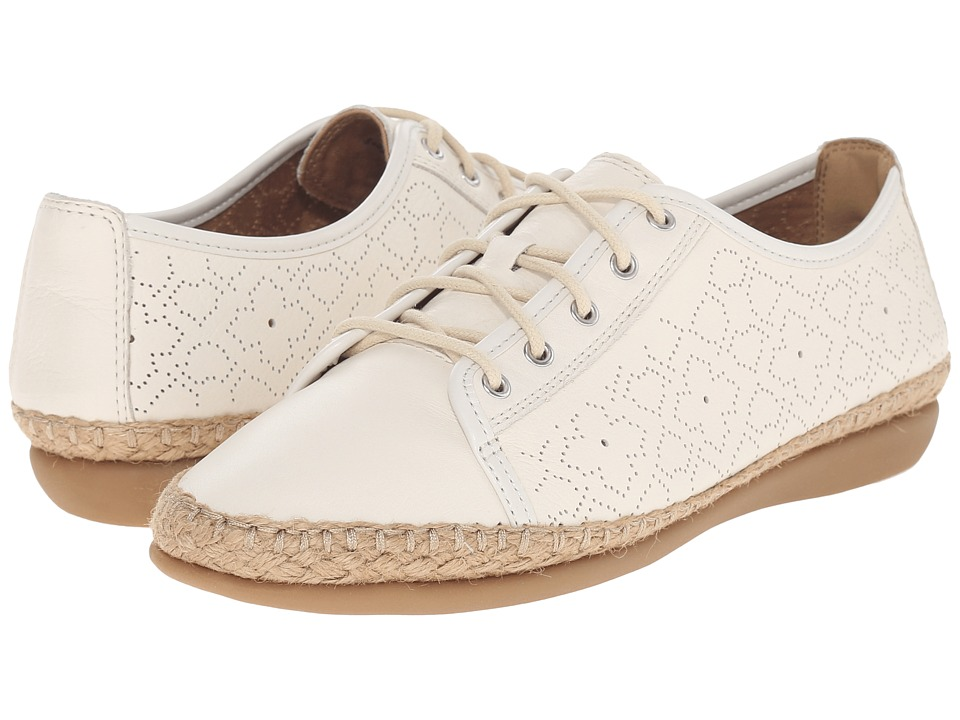 Clarks - Reeney Rita (Off-White Leather) Women's Lace up casual Shoes