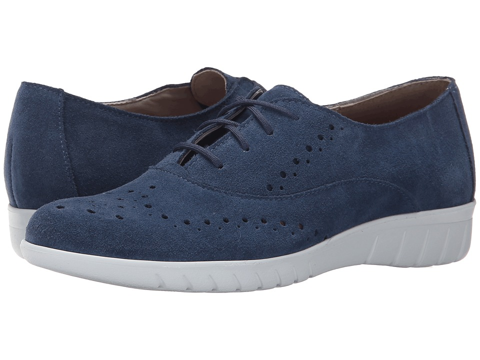 Munro - Wellesley (Blue Suede) Women's Lace up casual Shoes