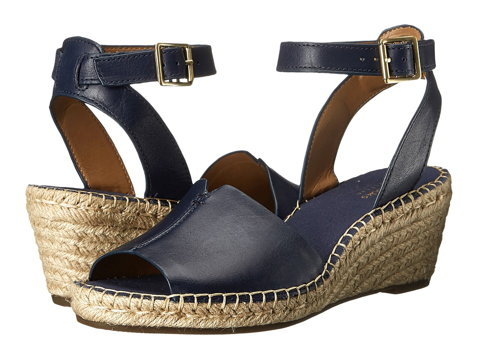 Clarks - Petrina Selma (Navy Leather) Women's Wedge Shoes