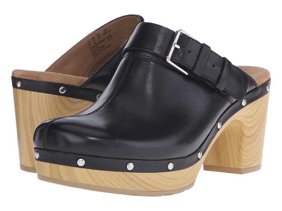 Clarks - Ledella York (Black Leather) Women's Clog Shoes