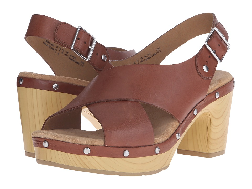 Clarks - Ledella Club (Nutmeg Leather) High Heels