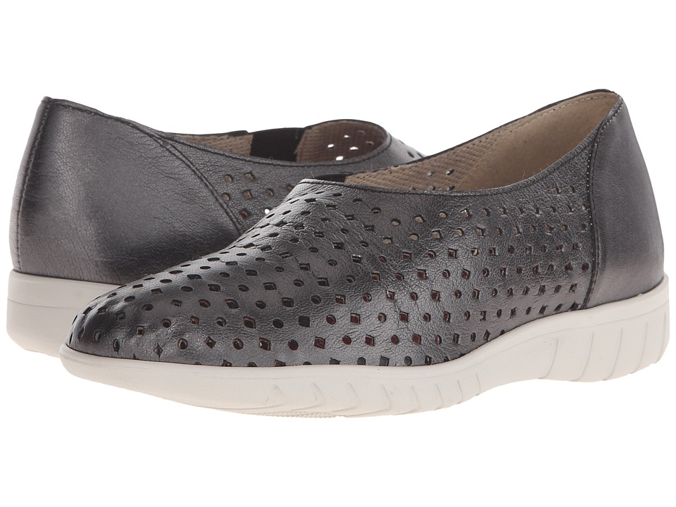 Munro - Skipper (Black Metallic Kid) Women's Slip on Shoes