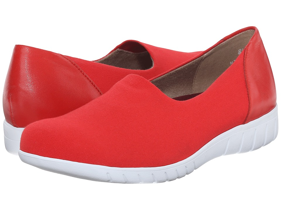Munro - Yacht (Red Coral Canvas) Women's Slip on Shoes