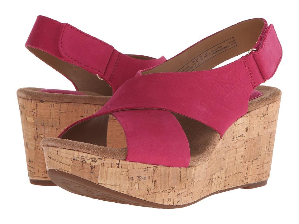 Clarks - Caslynn Shae (Fuchsia Nubuck) Women's Wedge Shoes