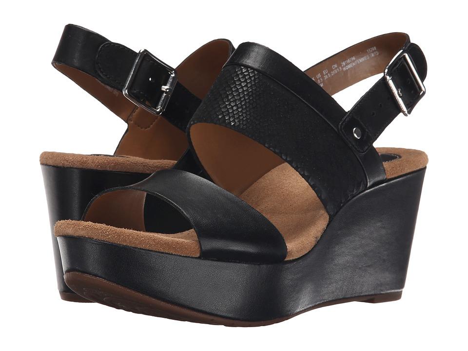 Clarks - Caslynn Kat (Black Combi) Women's Wedge Shoes