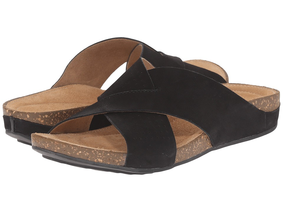 Clarks - Perri Cove (Black Nubuck) Women's Sandals