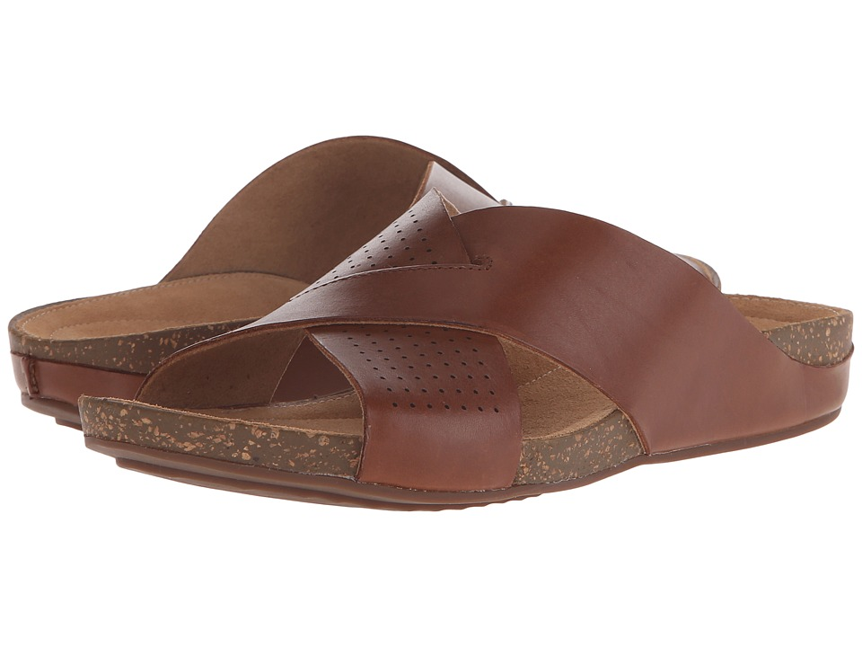 Clarks - Perri Cove (Dark Tan Leather) Women's Sandals