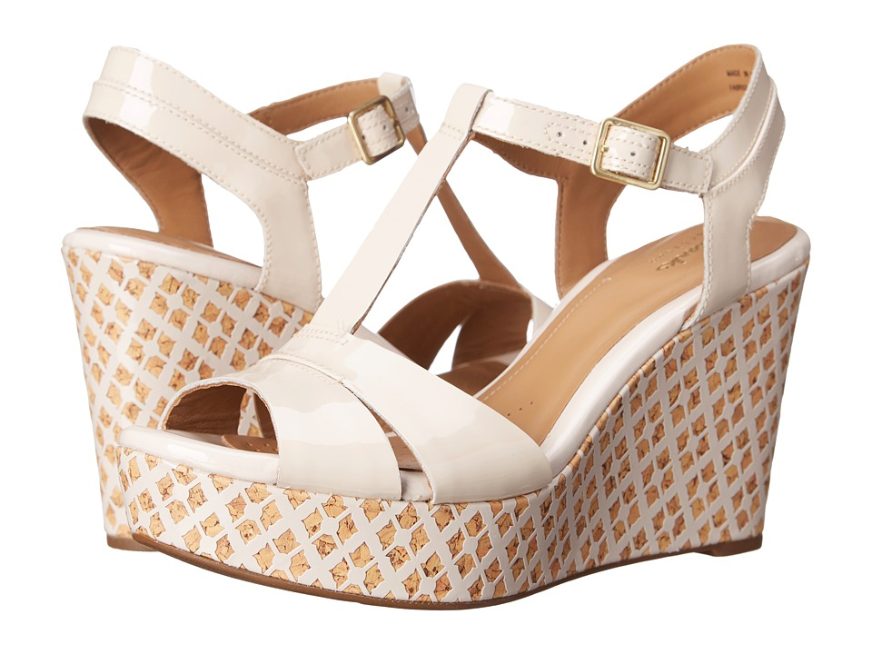 Clarks Cream Wedges discount under $60 boeDnKeo
