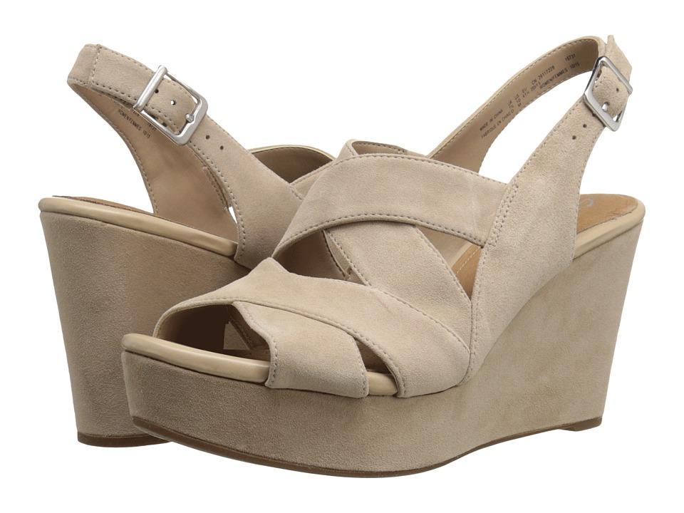 Clarks - Amelia Alice (Sand Suede) Women's Shoes