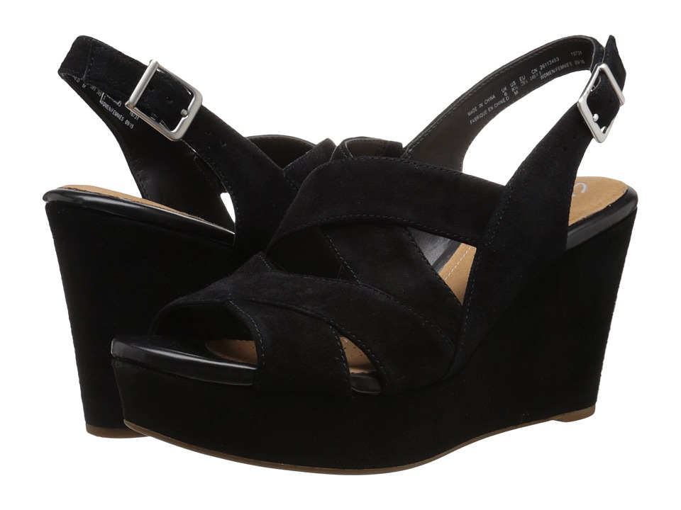 Clarks - Amelia Alice (Black Suede) Women's Shoes