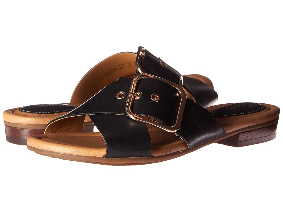 Clarks - Viveca Gwen (Black Leather) Women's Sandals