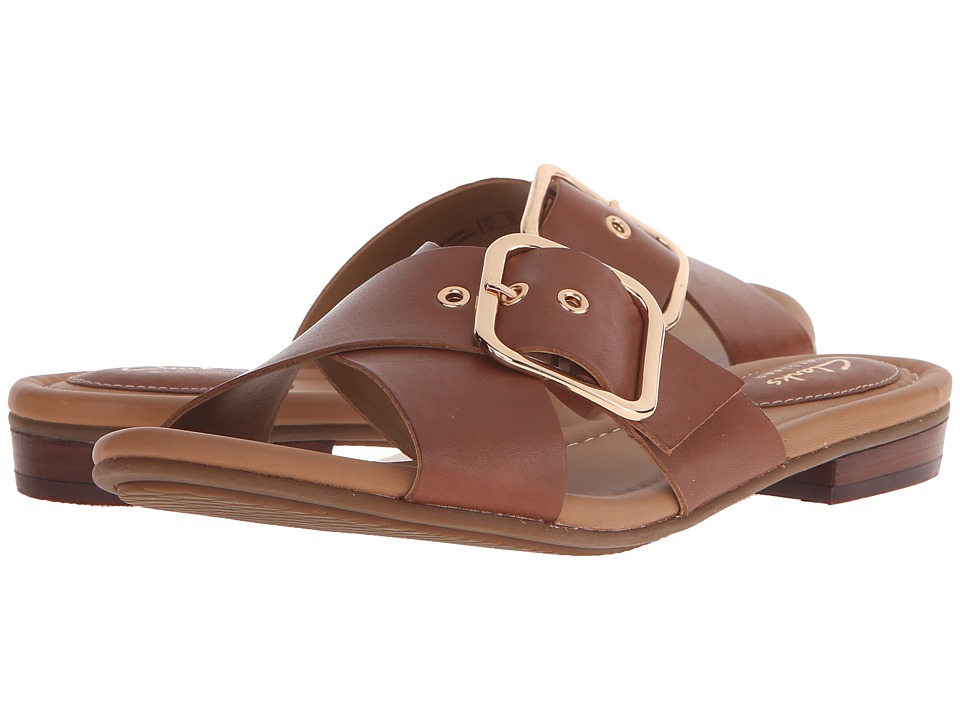 Clarks - Viveca Gwen (Nutmeg Leather) Women's Sandals