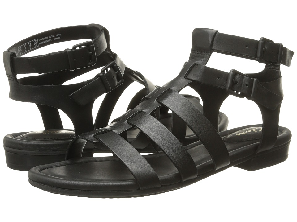 Clarks - Viveca Myth (Black Leather) Women's Sandals
