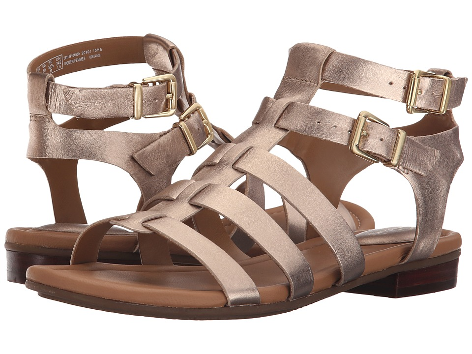 Clarks - Viveca Myth (Gold Leather) Women's Sandals