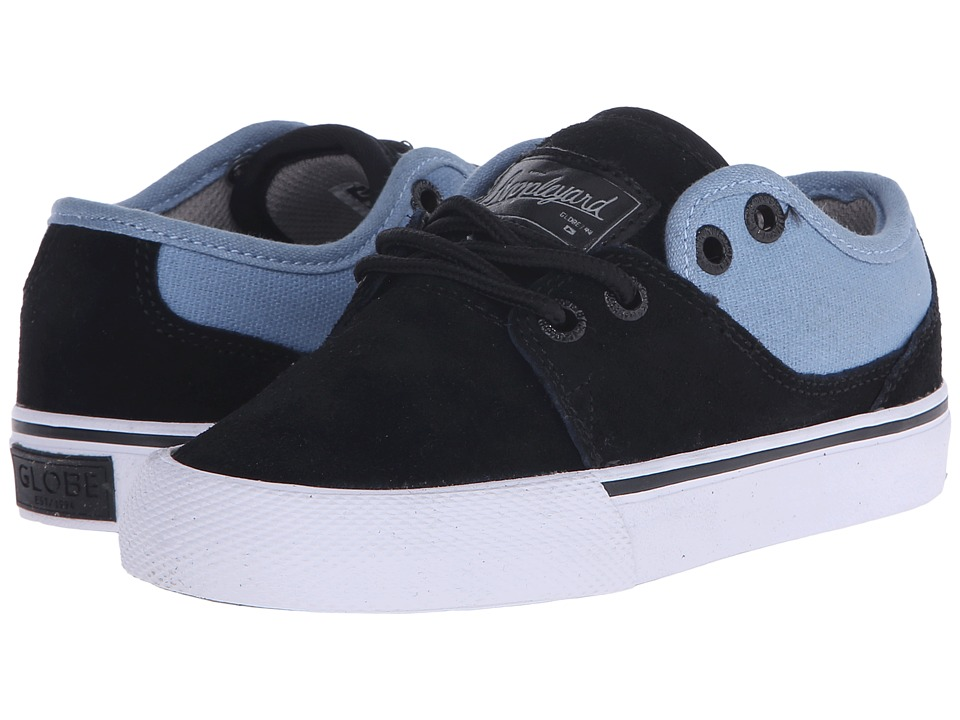 Globe - Mahalo (Little Kid/Big Kid) (Black/Cornet Blue) Men's Skate Shoes