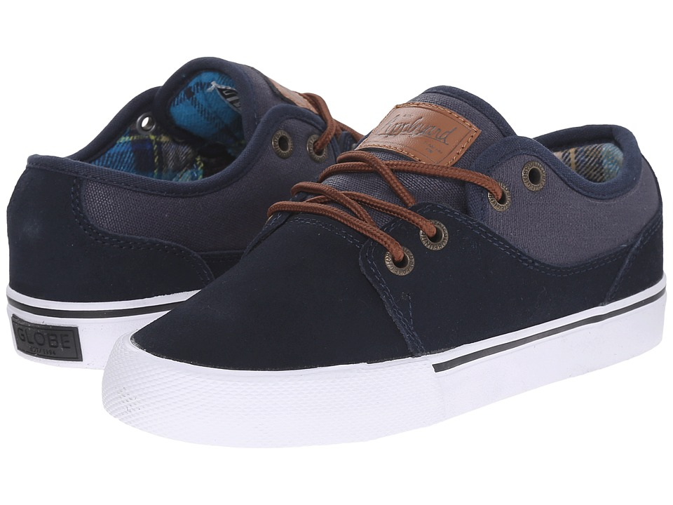 Globe - Mahalo (Little Kid/Big Kid) (Navy/Plaid) Men's Skate Shoes