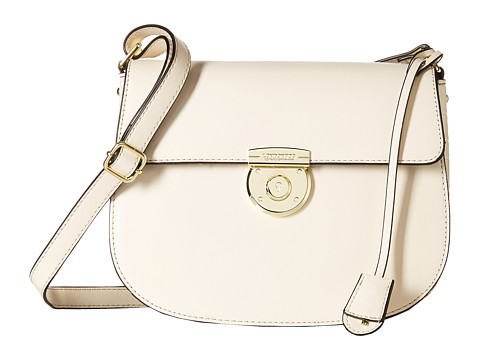 London Fog - Stewart Saddle Bag (Ivory) Satchel Handbags
