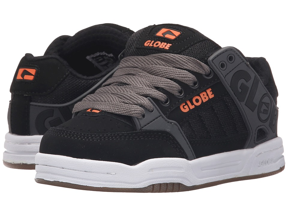 Globe - Tilt (Little Kid/Big Kid) (Black/Charcoal/Orange) Men's Skate Shoes