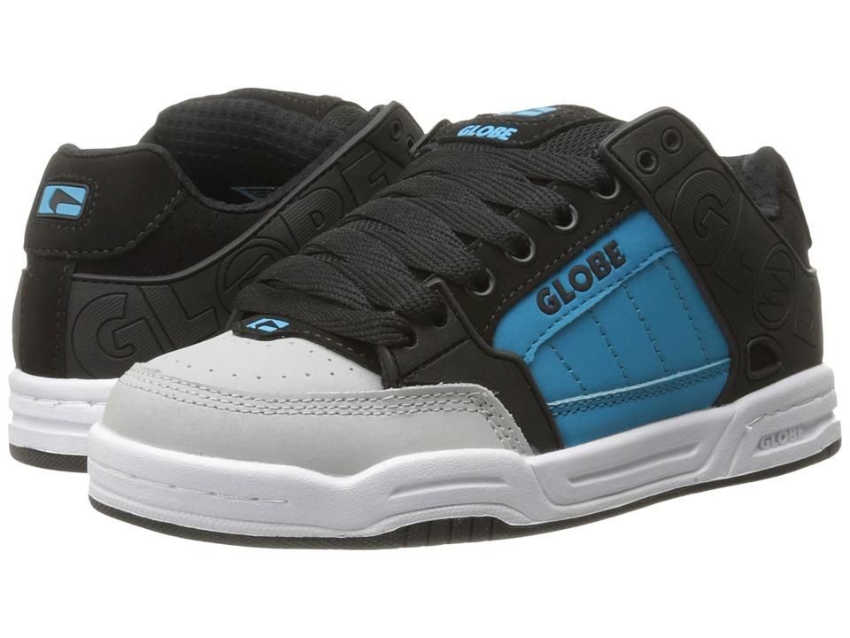Globe - Tilt (Little Kid/Big Kid) (Black/Grey/Blue) Men's Skate Shoes