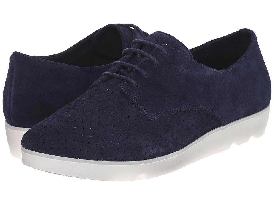 Clarks - Evie Bow (Navy Suede) Women's Lace up casual Shoes