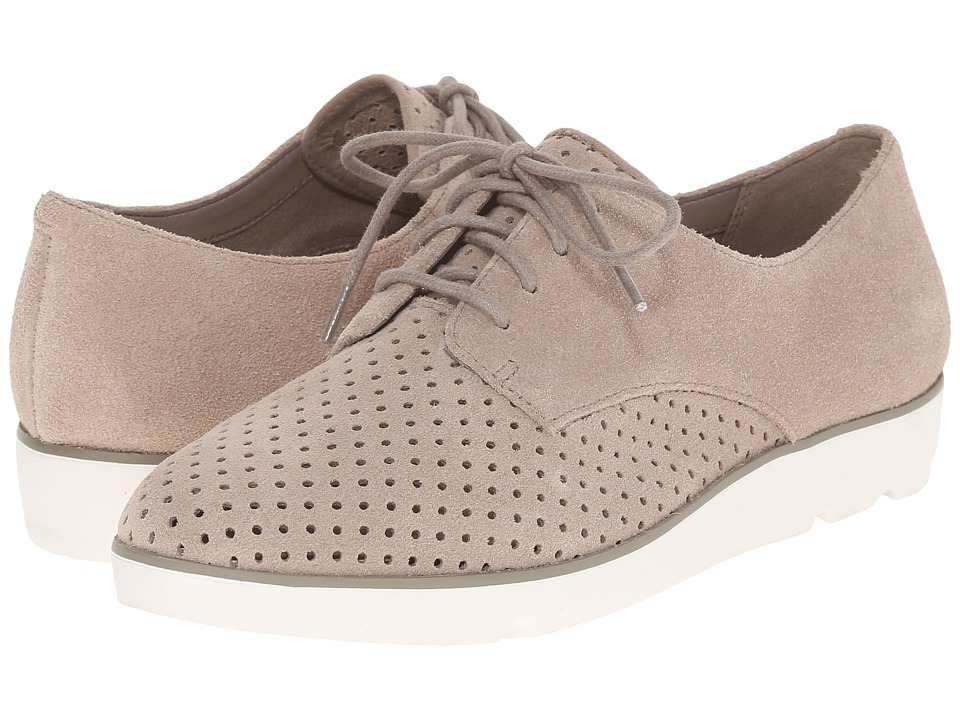 Clarks - Evie Bow (Sand Suede) Women's Lace up casual Shoes