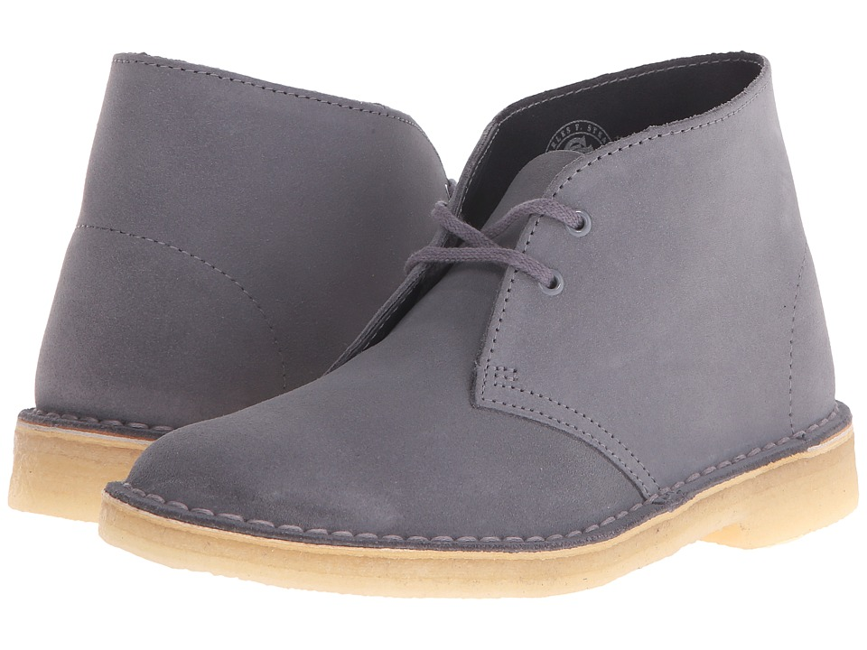 Clarks - Desert Boot (Blue/Grey Suede) Women's Lace-up Boots