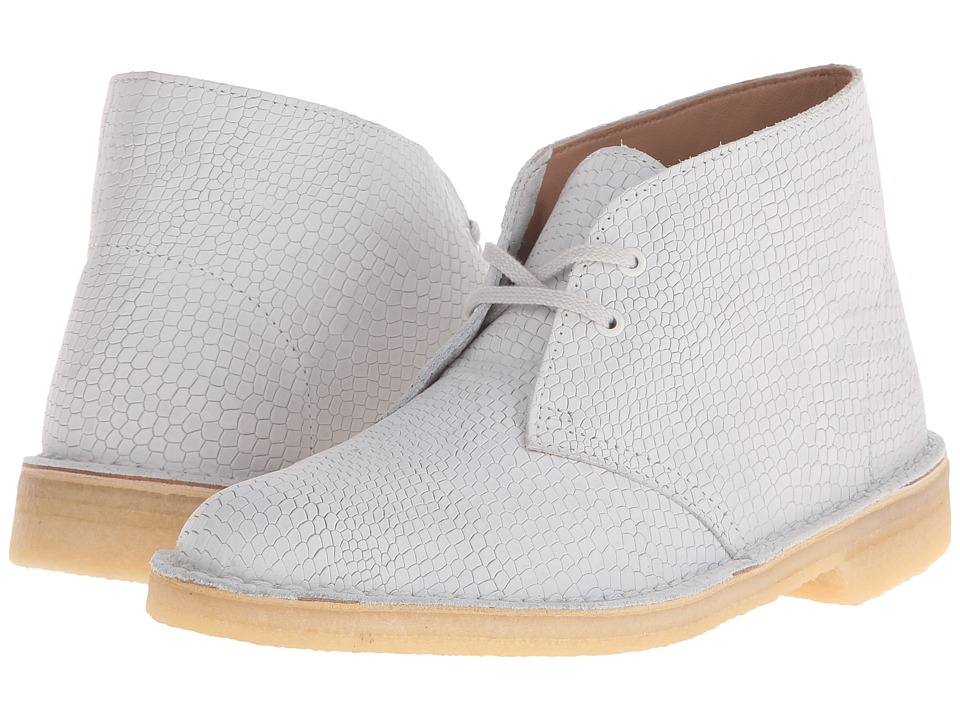 Clarks Desert Boot (Off-White Snake) Women