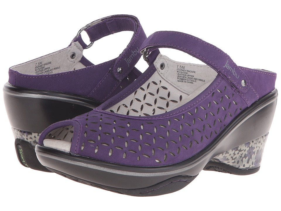 Jambu - Journey Encore (Blackberry) Women's Maryjane Shoes