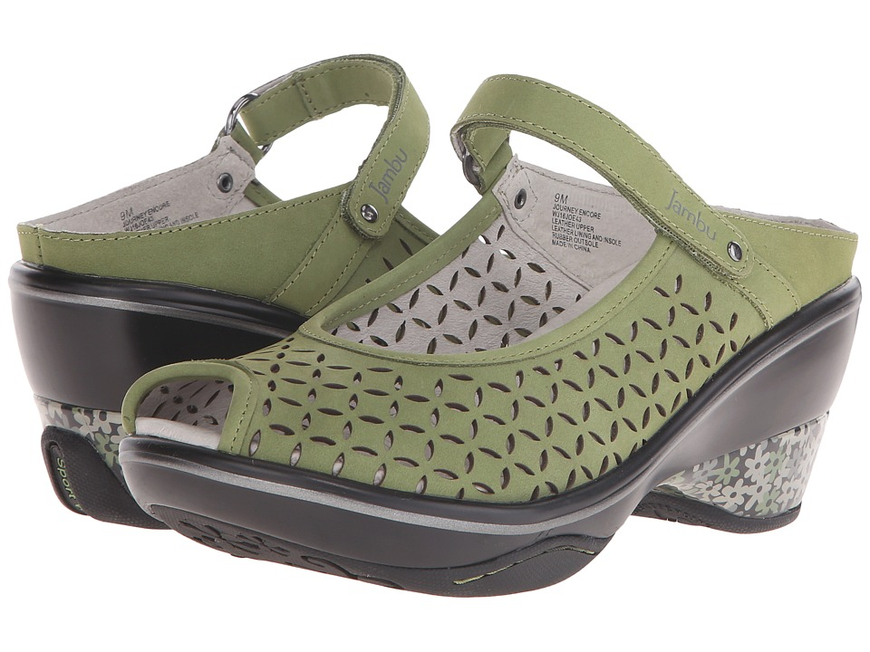 Jambu - Journey Encore (Sage) Women's Maryjane Shoes