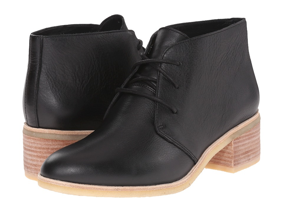 Clarks - Phenia Carnaby (Black Leather) Women's Lace-up Boots