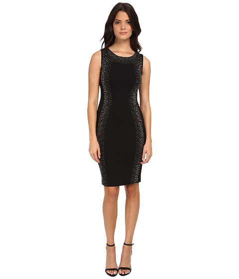 Calvin Klein - Sheath Dress with Beading (Black) Women