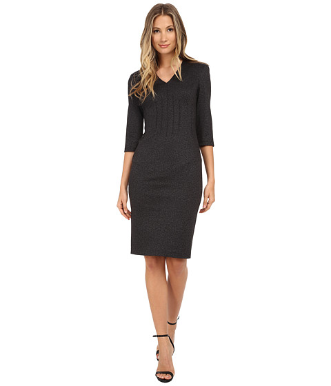 Calvin Klein - 3/4 Sleeve Sheath Dress (Charcoal) Women's Dress