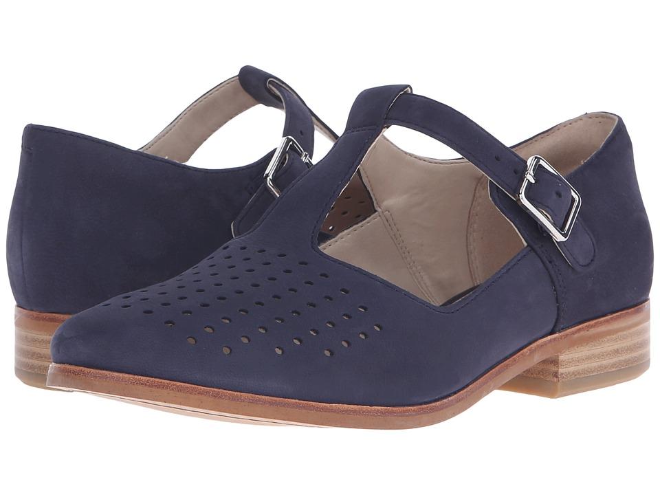 Clarks - Hotel Vibe (Navy Nubuck) Women's 1-2 inch heel Shoes