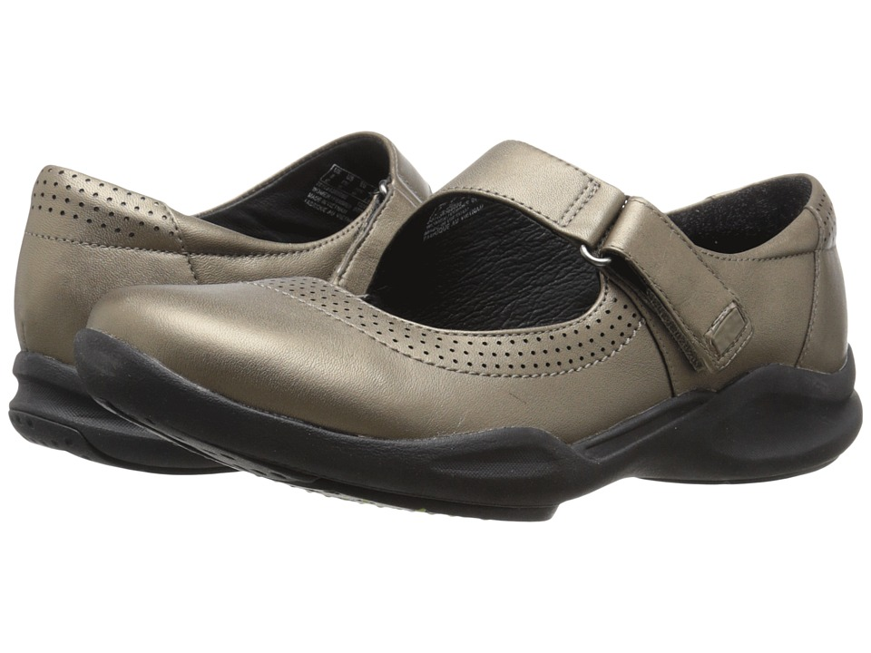 Clarks - Wave Wish (Pewter Metallic Leather) Women's Shoes