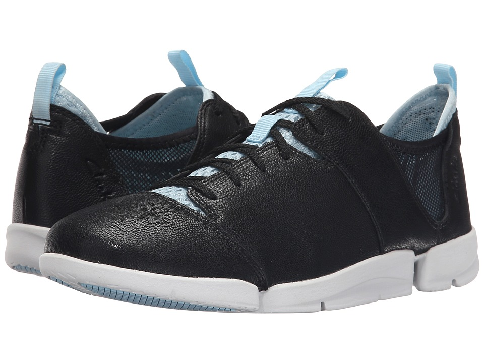 Clarks - Tri Active (Black Leather) Women's Lace up casual Shoes