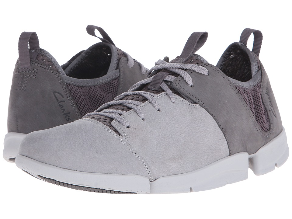 Clarks - Tri Active (Grey Nubuck) Women's Lace up casual Shoes