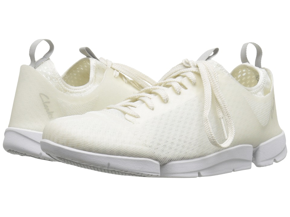 Clarks - Tri Aerobic (White Synthetic) Women's Lace up casual Shoes