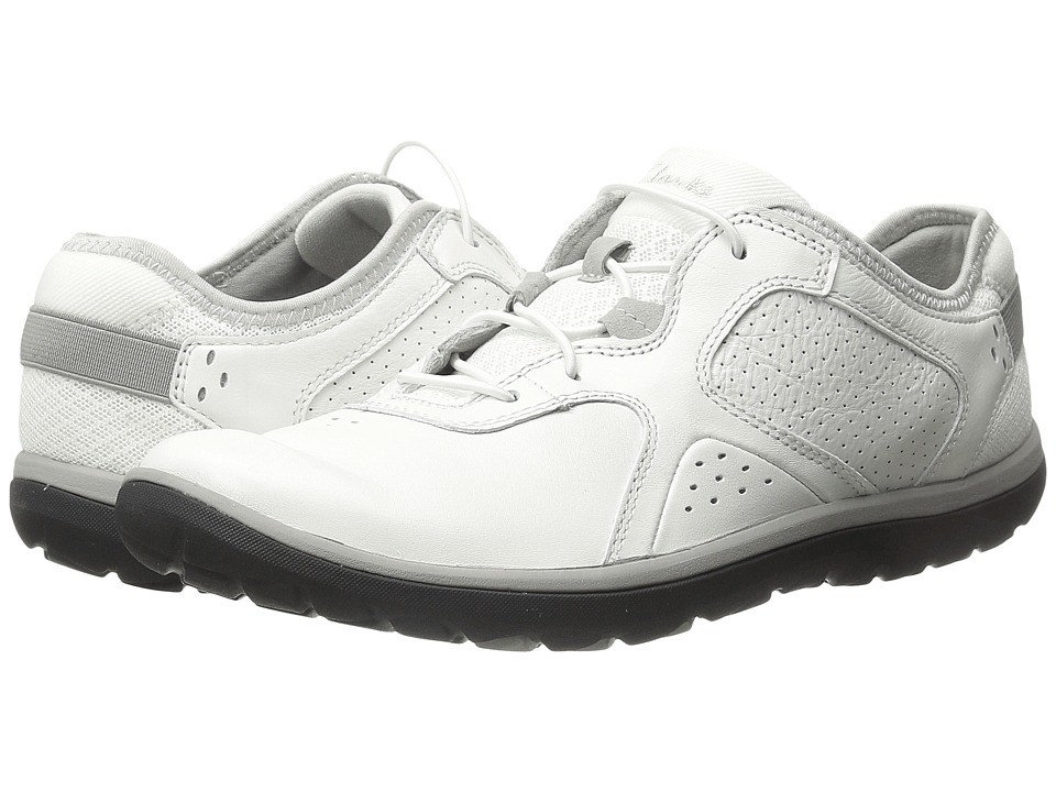 Clarks Aria Lace (White Leather) Women